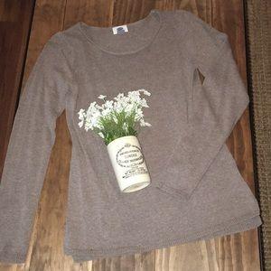 Old navy light brown heather sweater  / sz medium